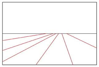 放射状構図の概念図
