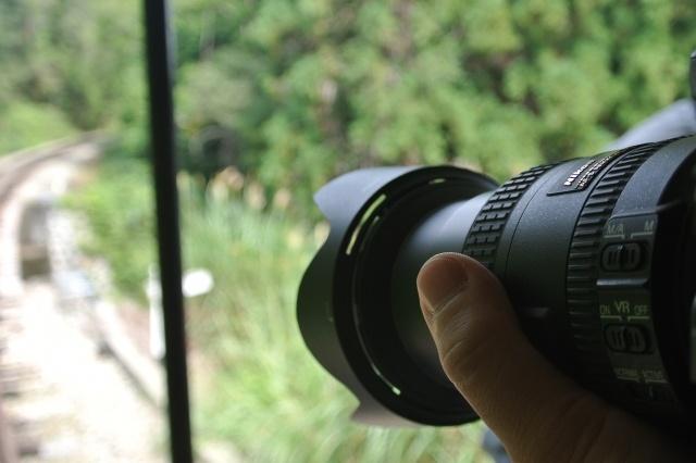 風景を撮影している写真