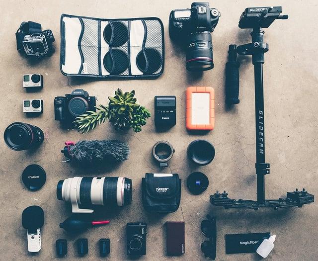 カメラ機材一式の写真